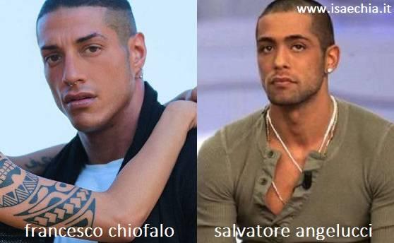 Somiglianza tra Francesco Chiofalo e Salvatore Angelucci