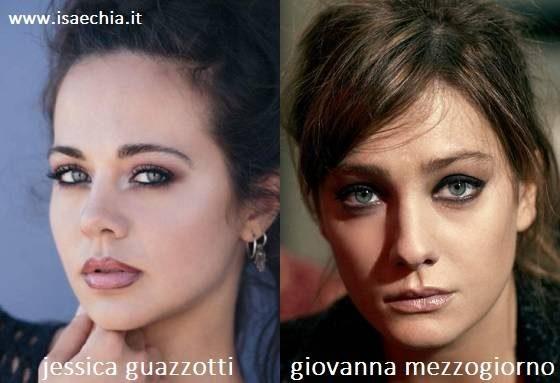 Somiglianza tra Jessica Guazzotti e Giovanna Mezzogiorno