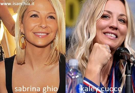 Somiglianza tra Sabrina Ghio e Kaley Cuoco