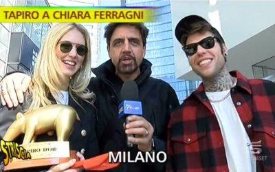 Chiara Ferragni, Fedez e Valerio Staffelli