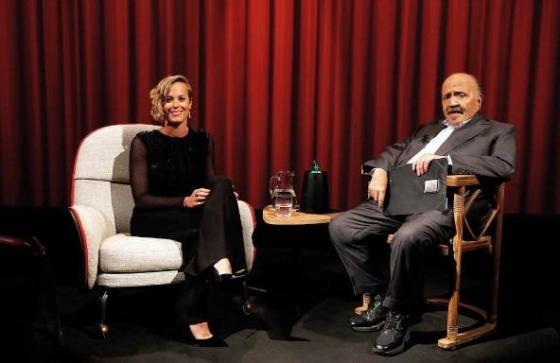 Federica Pellegrini e Maurizio Costanzo