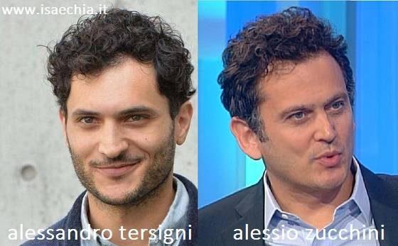 Somiglianza tra Alessandro Tersigni e Alessio Zucchini
