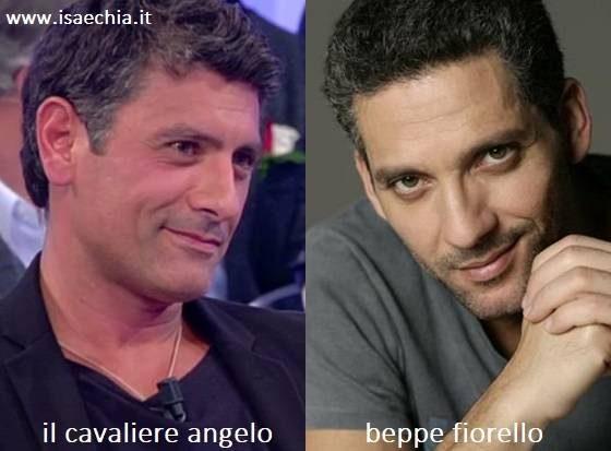 Somiglianza tra Angelo e Beppe Fiorello