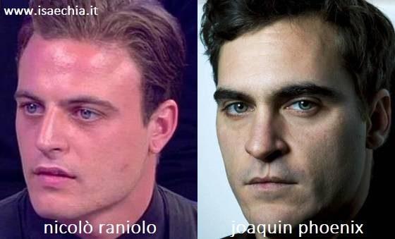Somiglianza tra Nicolò Raniolo e Joaquin Phoenix