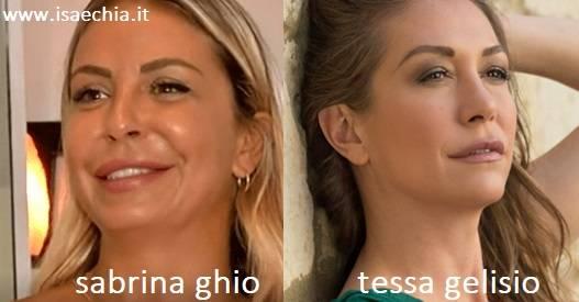 Somiglianza tra Sabrina Ghio e Tessa Gelisio
