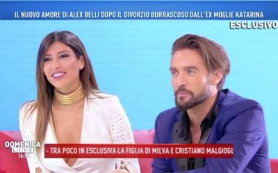 Alex Belli e Mila Suarez - Domenica Live