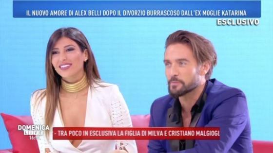 Alex Belli e Mila Suarez - Domenica Live