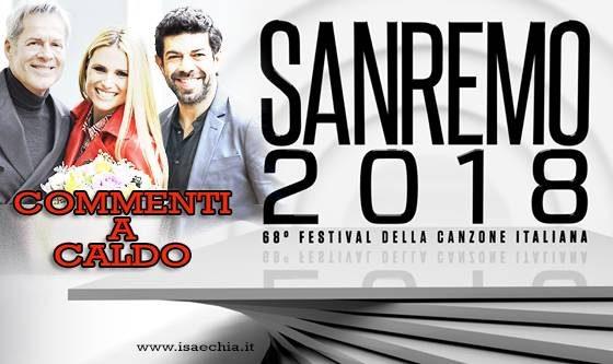 'Sanremo 2018': commenti a caldo