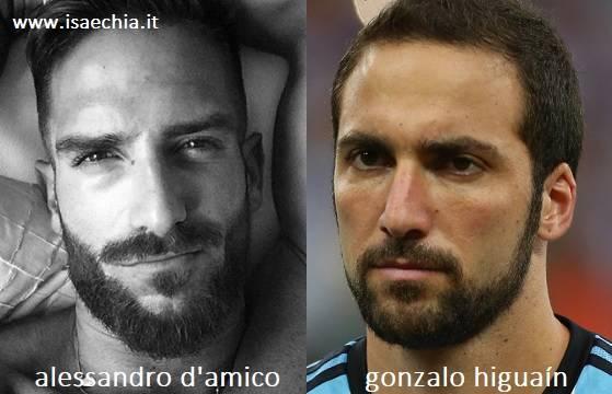 Somiglianza tra Alessandro D'Amico e Gonzalo Higuaín