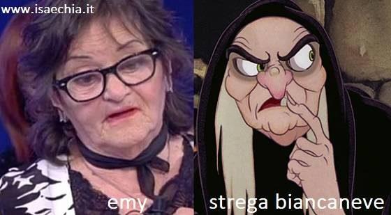 Somiglianza tra Emy e la strega di Biancaneve