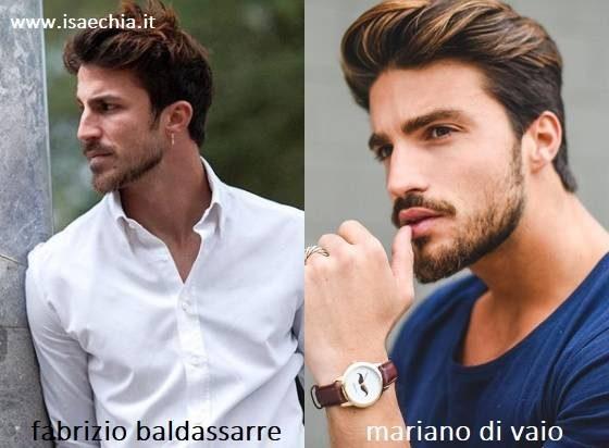 Somiglianza tra Fabrizio Baldassarre e Mariano Di Vaio