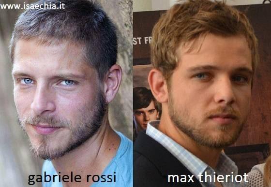 Somiglianza tra Gabriele Rossi e Max Thieriot