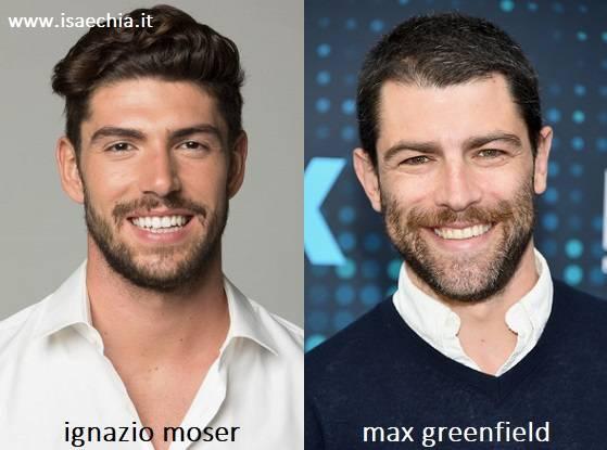 Somiglianza tra Ignazio Moser e Max Greenfield