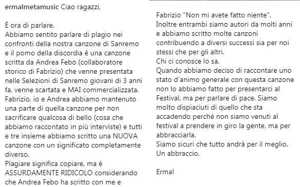 Alessandro Cattelan chiede scusa a Ermal Meta