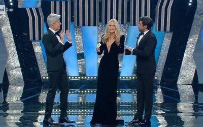 Sanremo 2018 - Claudio Baglioni, Michelle Hunziker, Pierfrancesco Favino