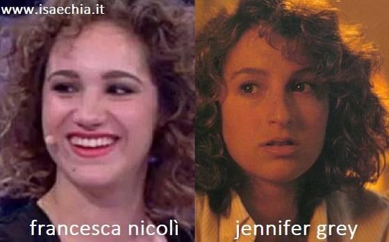 Somiglianza tra Francesca Nicolì e Jennifer Grey