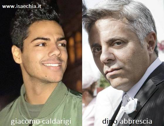 Somiglianza tra Giacomo Caldarigi e Dino Abbrescia