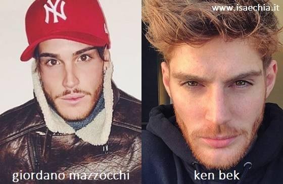 Somiglianza tra Giordano Mazzocchi e Ken Bek