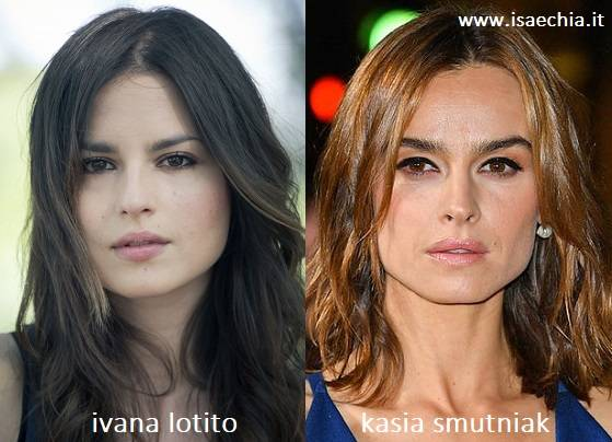Somiglianza tra Ivana Lotito e Kasia Smutniak