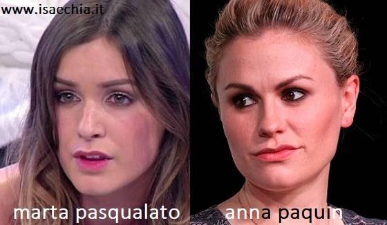 Somiglianza tra Marta Pasqualato e Anna Paquin