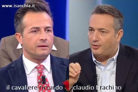 Somiglianza tra Riccardo e Claudio Brachino