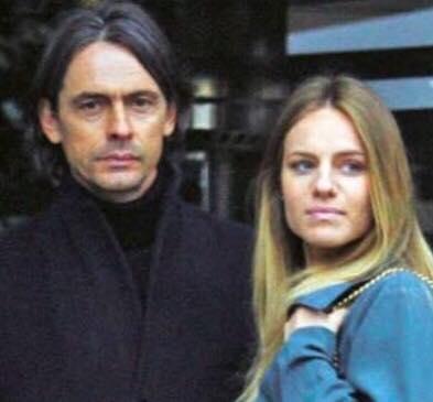 Filippo Inzaghi e Angela Robusti