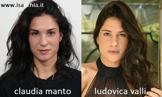 Somiglianza tra Claudia Manto e Ludovica Valli