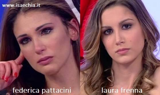 Somiglianza tra Federica Pattacini e Laura Frenna