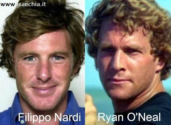 Somiglianza tra Filippo Nardi e Ryan O'Neal