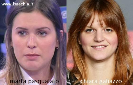 Somiglianza tra Marta Pasqualato e Chiara Galiazzo