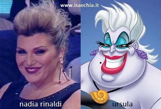 Somiglianza tra Nadia Rinaldi e Ursula de 'La Sirenetta'