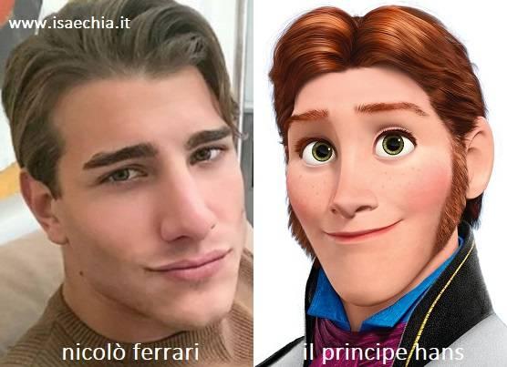 Somiglianza tra Nicolò Ferrari e il principe Hans di 'Frozen'