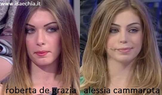 Somiglianza tra Roberta De Grazia e Alessia Cammarota