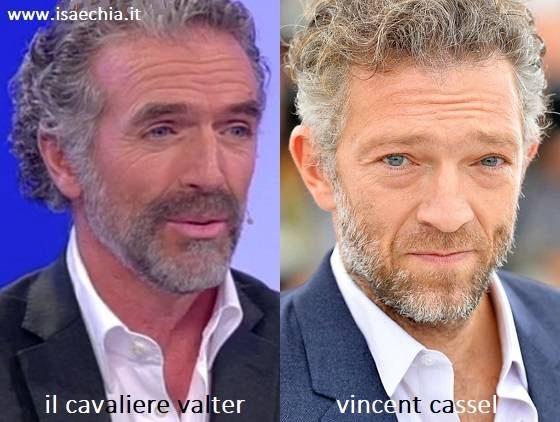 Somiglianza tra Valter, cavaliere del Trono over di 'Uomini e Donne', e Vincent Cassel