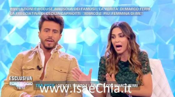Pomeriggio Cinque - Marco Ferri e Cecilia Capriotti