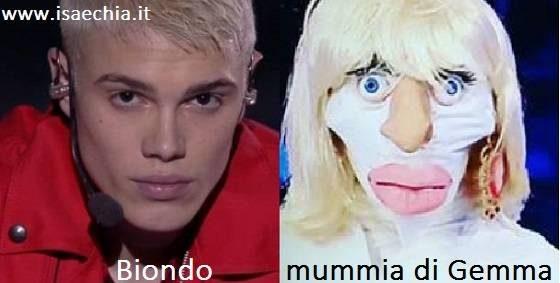 Somiglianza tra Biondo e la mummia di Gemma Galgani