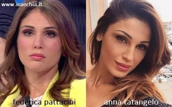 Somiglianza tra Federica Pattacini e Anna Tatangelo