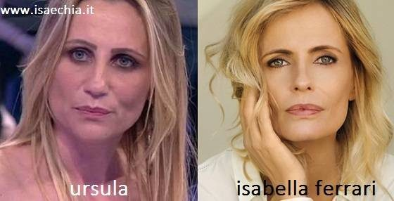 Somiglianza tra Ursula e Isabella Ferrari