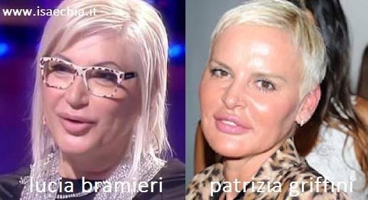Somiglianza tra Lucia Bramieri e Patrizia Griffini